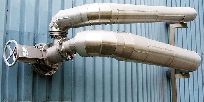 3 water jet air compressors at the 4000 m3 clear filtrate storage tank of the paper mill