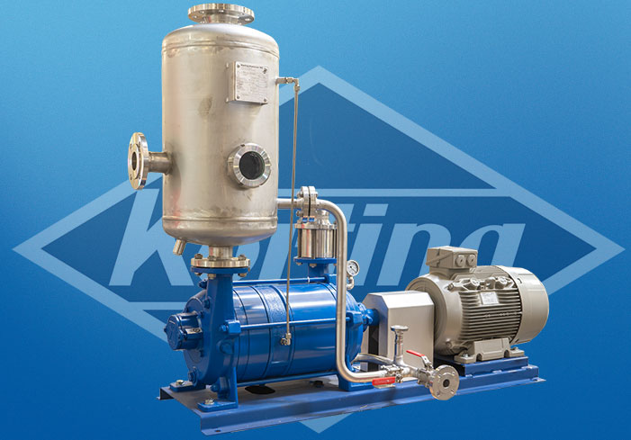 Liquid ring vacuum pump in partial recovery operation